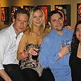 Emmanual with Bolshefliks Jill, Chris y Valen